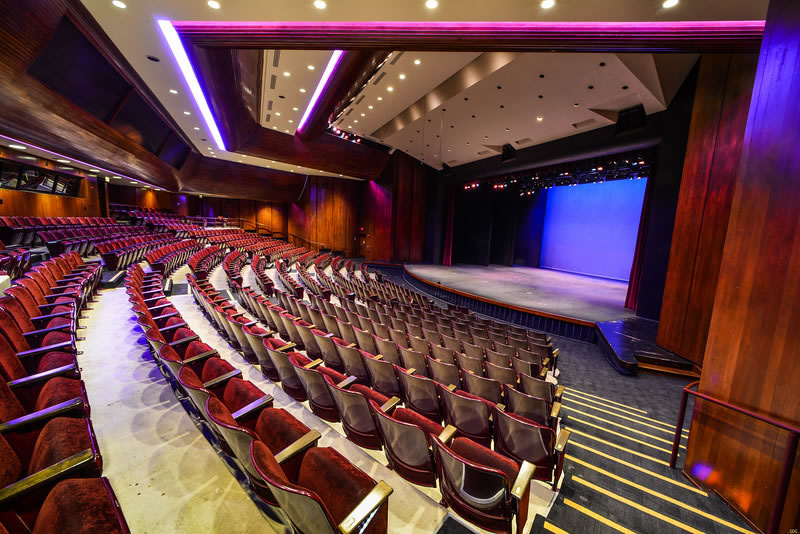 modern theater with 516 seats